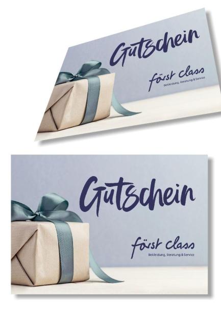 250 € Gutschein först class